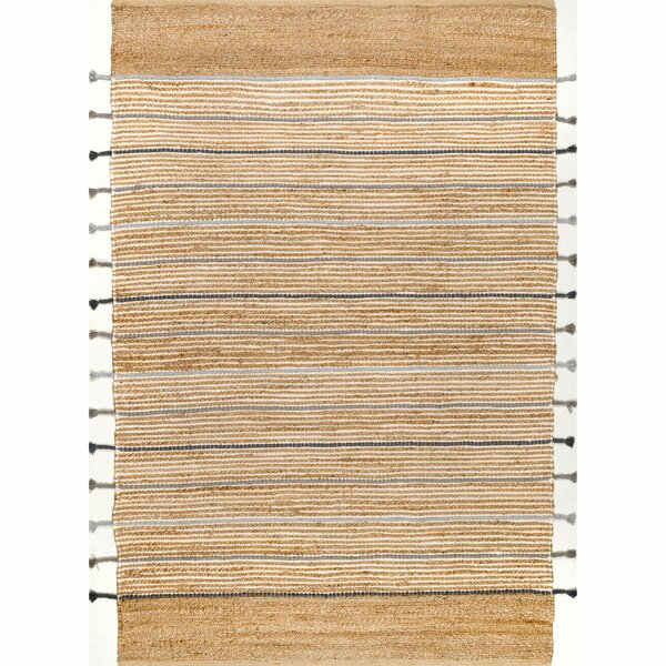 Kolton Striped Handmade Hand Loomed Natural Gold Area Rug Reviews Joss Main