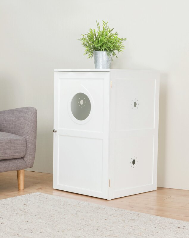 tucker murphy pet lucas litter box enclosure reviews wayfair. Black Bedroom Furniture Sets. Home Design Ideas