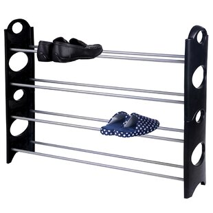 Price comparison Metal and Plastic 20 Pair Shoe Rack By Home Basics