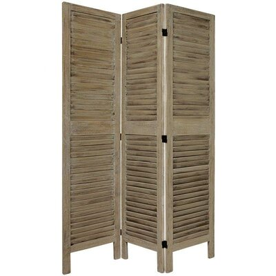 Jeanpierre Room Divider Color: Burnt Gray, Number of Panels: 3 by August Grove