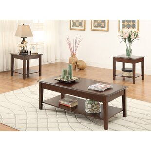 Affordable Holz Wooden Top 3 Piece Coffee Table Set ByCharlton Home