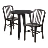 Arabella 3 Piece Bar Height Dining Set