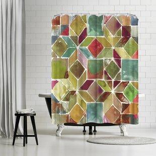 East Urban Home PI Creative Art Tessellation Ii Shower Curtain