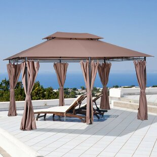 13 Ft. W x 10 Ft. Steel Patio Gazebo Canopy by Outsunny