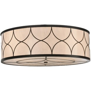 Meyda Tiffany Revival Deco Cilindro 4-Light Flush Mount