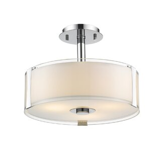 Bainbridge 3-Light Semi Flush Mount by Orren Ellis
