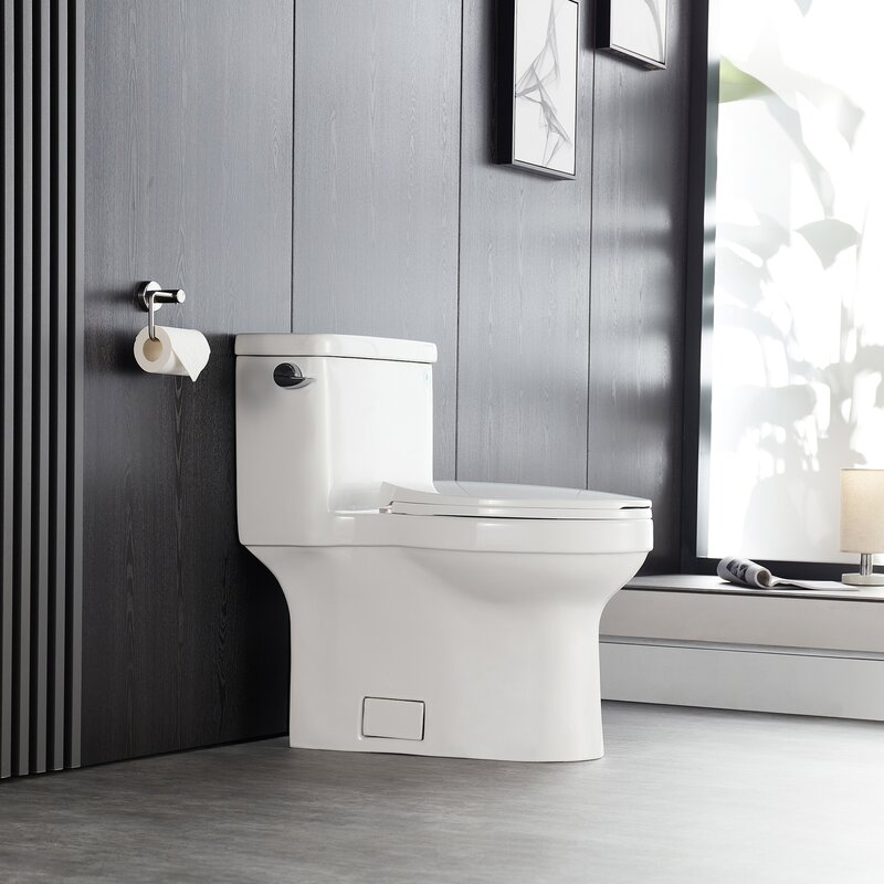 Deervalley Vita 1 28 Gpf Water Efficient Elongated One Piece Toilet Seat Included Reviews Wayfair
