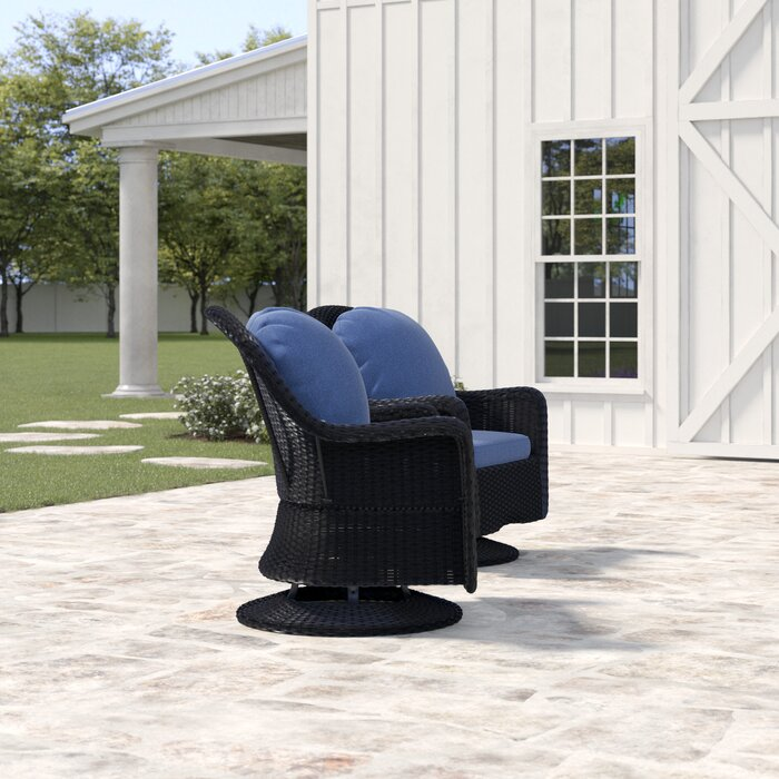 Cool Dearing Modern Outdoor Wicker Swivel Club Patio Chair With Cushions Pabps2019 Chair Design Images Pabps2019Com