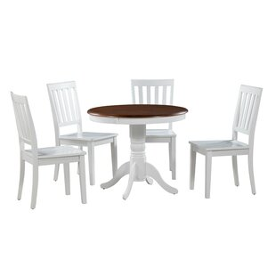 Erica 5 Piece Solid Wood Breakfast Nook Alcott Hill