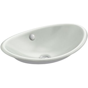 Kohler Iron Plains™ Metal Oval Vessel Bathroom Sink with Overflow