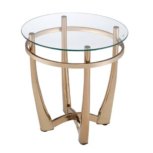 Jauss Contemporary Round Living Room End Table