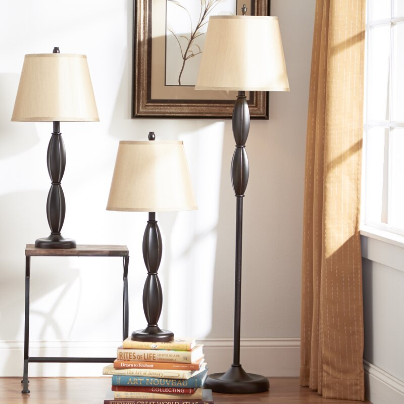 Andover mills petrey 3 piece table and floor lamp set reviews petrey 3 piece table and floor lamp set mozeypictures Image collections