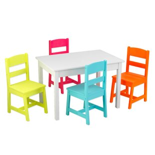 Highlighter Kids 5 Piece Writing Table and Chair Set by KidKraft