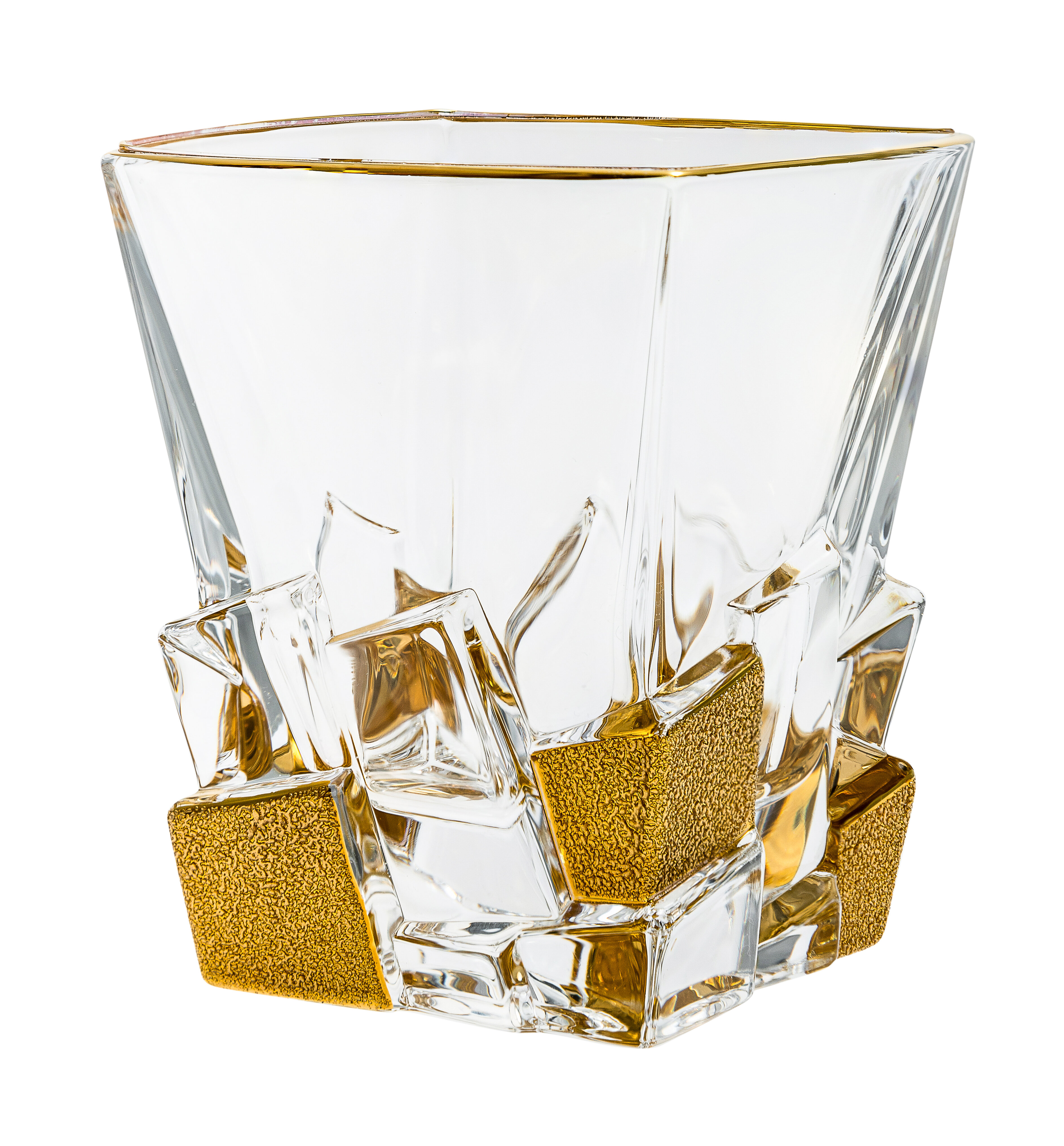 Everly Quinn Nolia Double Old Fashioned 12 Oz Crystal Whiskey Glass Wayfair