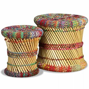 Timmothy Bamboo 2 Piece Stool Set By Latitude Vive