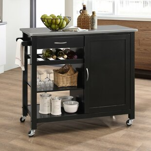 Chancey Kitchen Cart Ebern Designs