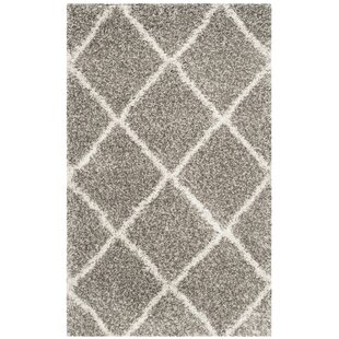 Online Reviews Duhon Shag Gray/Ivory Area Rug By Mercury Row