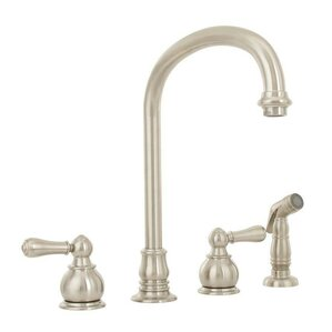 American Standard Hampton Double Handle Gooseneck Standard Kitchen Faucet