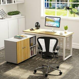 Eskew 2 Piece L-Shape Desk Office Suite by Ebern Designs Discount