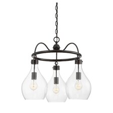 Anacortes 3-Light Shaded Chandelier