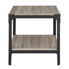 Cadencia Rustic Wood End Table (Set of 2)