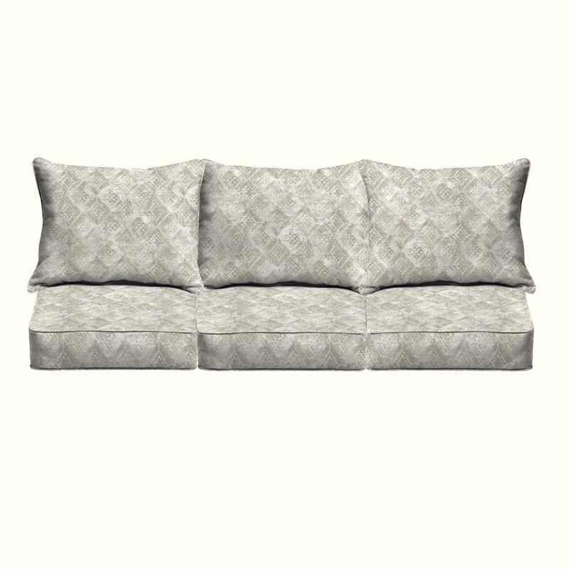 Brayden Studio Falcone Geometric Piped 6 Piece Indoor/Outdoor Sofa ...