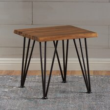 Frye Indoor Acacia Wood Side Table by Union Rustic