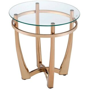 Mercer41 Skelton Glass Round End Table