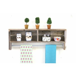 Combs Towel Rack Floating Shelf