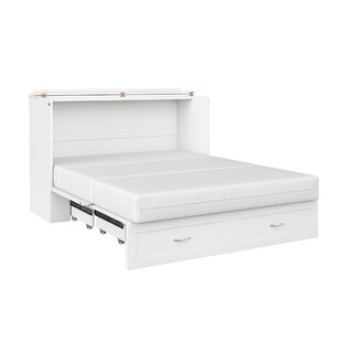 Audet Queen Storage Murphy Bed with Mattress