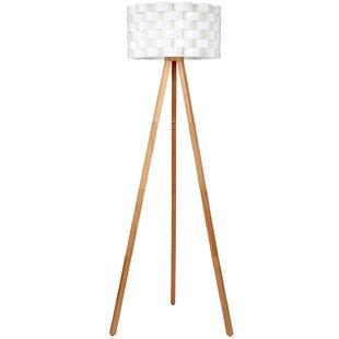 Modern tripod wood floor lamps allmodern dereon 48 tripod floor lamp aloadofball Choice Image