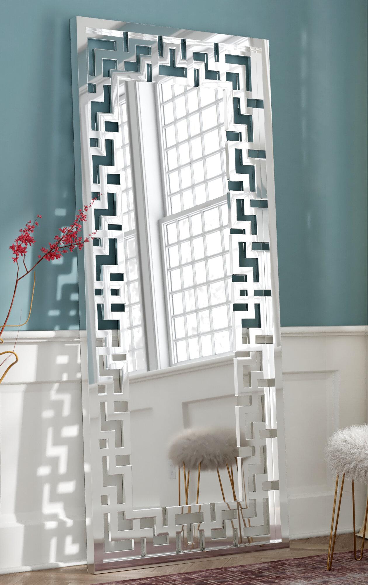 Willa Arlo Interiors Rudra Glass Leaner Floor Mirror & Reviews | Wayfair