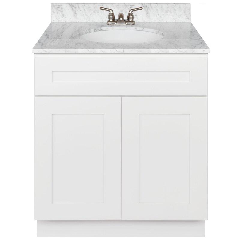 Winston Porter Stiltner 30 Single Vanity Cabinet Alpina White