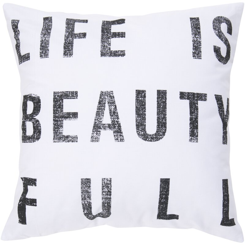 Eneida Life Is Beauty Throw Pillow