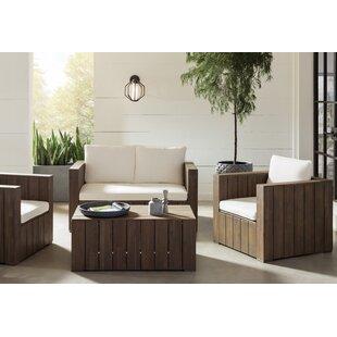 Kersh 4 Piece Sofa Set With Cushions