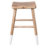 Miraculous Modern Contemporary Mango Wood Rustic Bar Stool Allmodern Caraccident5 Cool Chair Designs And Ideas Caraccident5Info