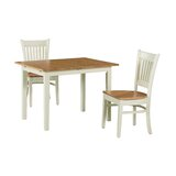 Shipe 3 Piece Extendable Solid Wood Dining Set by August Grove®