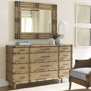Tommy Bahama Home Twin Palms 12 Drawer Dresser with Mirror
