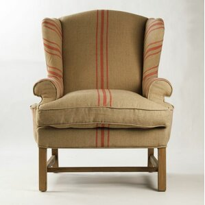 Exceptional Barnicle Stripes Wingback Chair