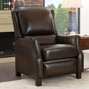 Yeates Premium Leather Manual Glider Recliner