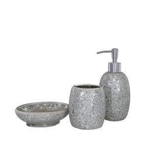 black glitter bathroom accessories. mosaic 3 piece bathroom accessories set Silver Bathroom Accessories Sets  Accessory With