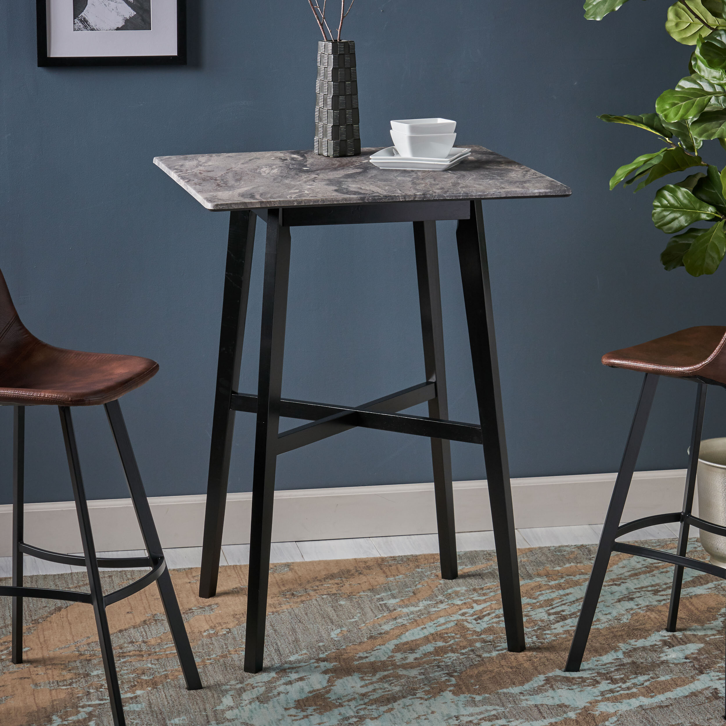 Marble Pub Table Kitchen Dining Tables You Ll Love In 2021 Wayfair