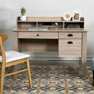 Three Posts Baker Computer Desk with Hutch