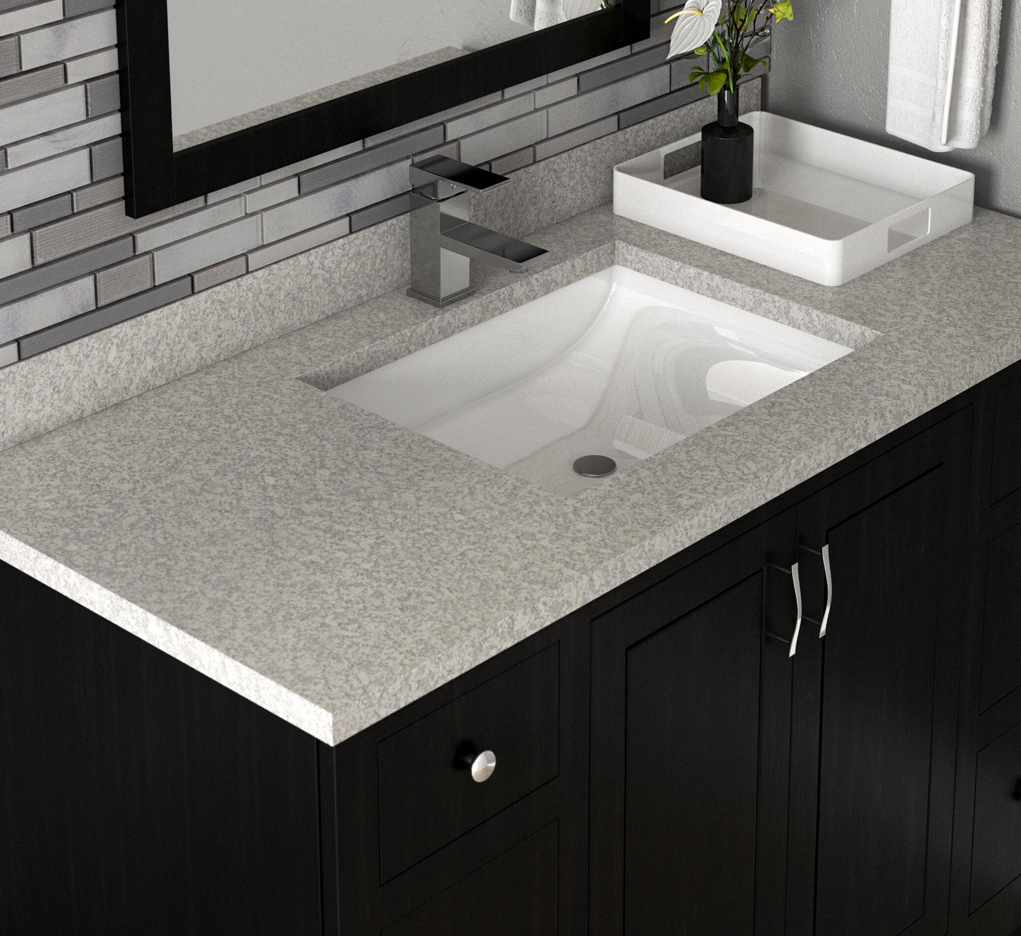 Wave Cultured Marble 31 Single Bathroom Vanity Top