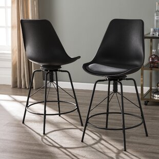 Glynis 24 Swivel Bar Stool Latitude Run