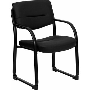 Check Prices Kruger Leather Executive Guest Chair by Symple Stuff