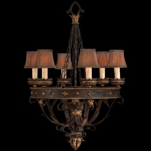 Fine Art Lamps Castile 6-Light Shaded Chandelier