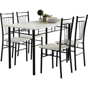 Worden Dining Set With 4 Chairs