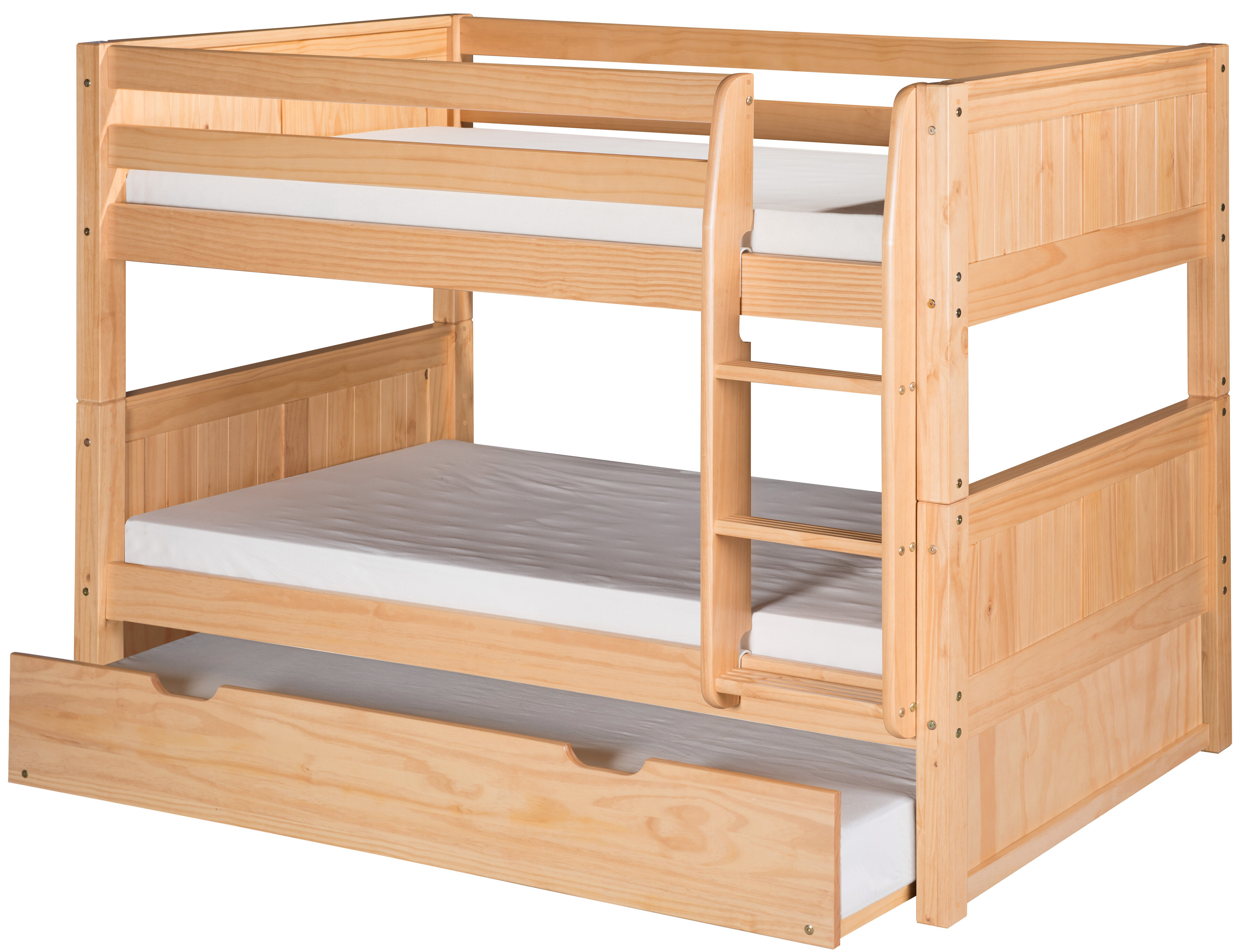 new product b95b9 c168d Burkley Low Twin over Twin Bunk Bed with Trundle