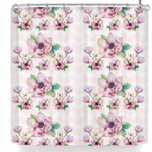 Sylvia Cook Watercolor Magnolias Single Shower Curtain